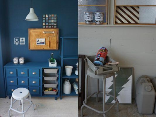 カジュアルなミリタリーカラーが簡単に塗装できる屋内外用水性塗料