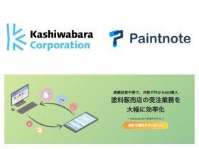 ペイントノートとカシワバラが資本提携